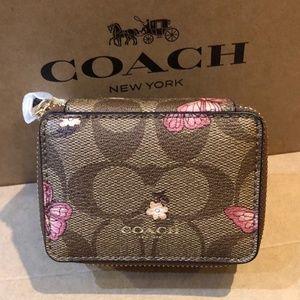 coach Accessories - Coach Coated Signature Canvas Travel Case Pill Box